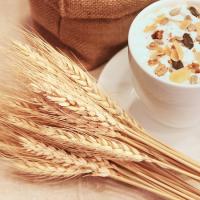 小麦とカップの画像
